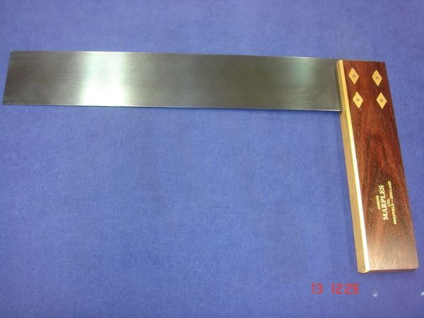 "Joseph Marples Rosewood Carpenters Try Square 305mm 12"" Brass Sheffield 19C"